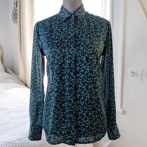 Equipment Femme Blouse Floral black and blue
